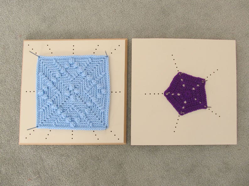 Crochet Blocking Board Double Sided For Blocking All Shapes Etsy
