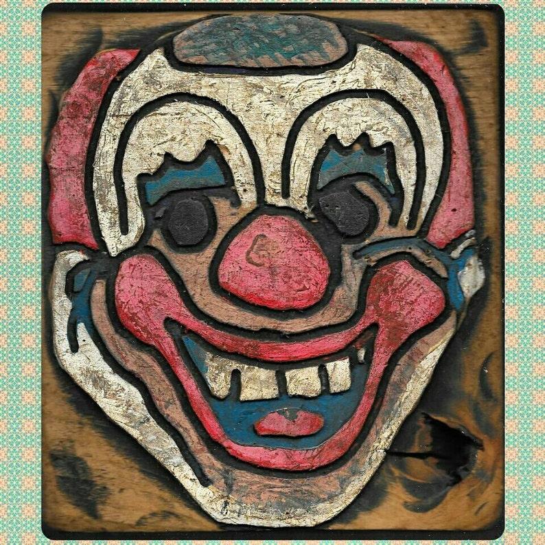 Creepy Little Clown Wooden Wall Art Halloween Decor Home