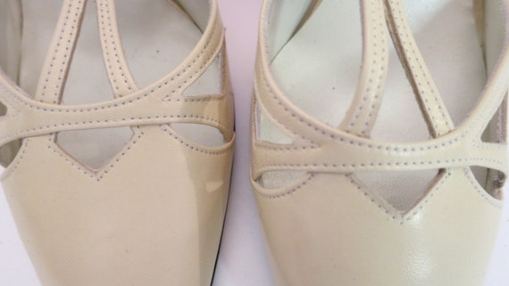 Vintage Charles Jourdan High Heel Mary Janes, 7 1/