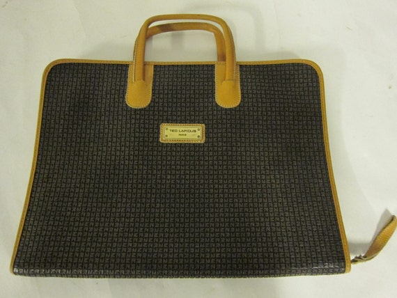 Vintage 80's Ted Lapidus Briefcase