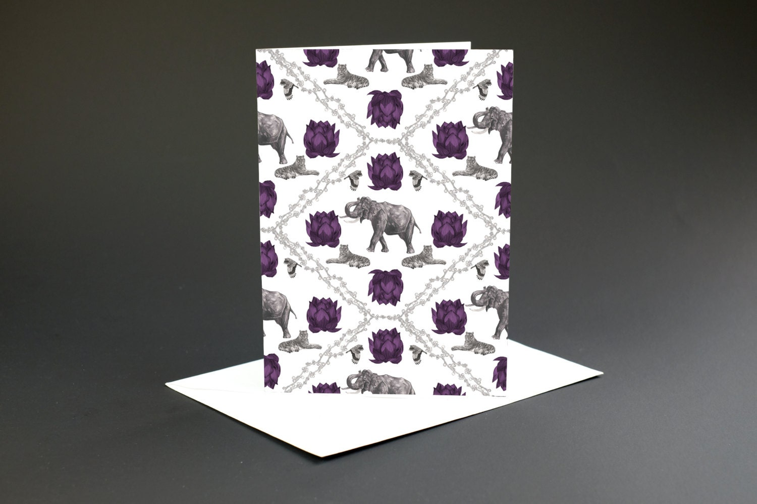 Indian Elephant Blank Greeting Card Blank Cards With Etsy