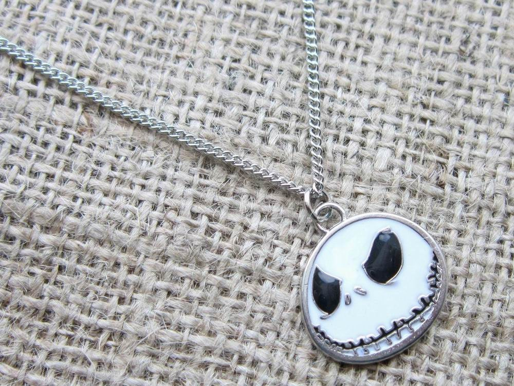 Nightmare Before Christmas Jack Skellington Necklace Skull