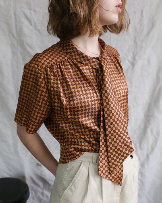 Vintage 40s Morlove The Couturier Blouse. Mad Men