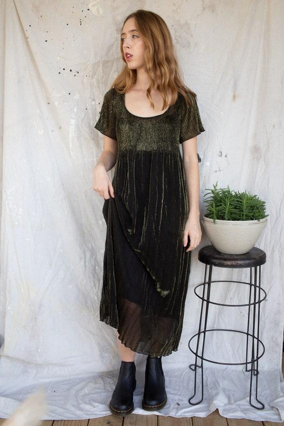 Vintage Babydoll Dress! Vintage Shimmery Babydoll