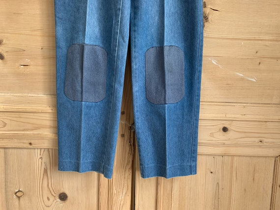 Patched Vintage Jeans, high waist jeans, mom jeans