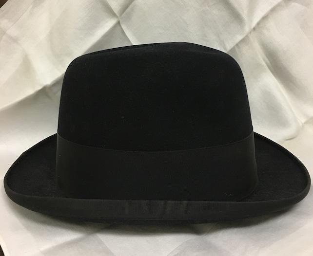 4f432364ca1 Cavanagh Black Bowler Hat with Wide Grosgrain Ribbon Brim