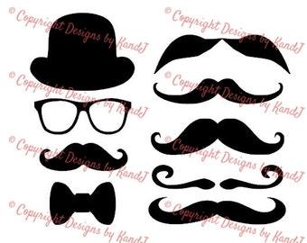 Funny Mustache and Sunglasses Fashion Sports Black Hoodie Wxf Womens Incognito