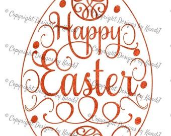 Easter SVG Happy easter svg Easter Egg svg digital cut file  svg Instant download