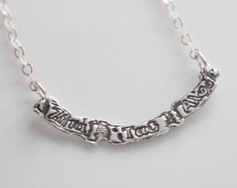 Zeta Tau Alpha Crest Banner Necklace // Sorority Jewelry Zeta Tau Alpha // ZTA Merchandise // Greek Licensed Jewelry
