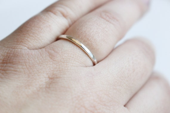 Silver toe ring simple silver rings Sterling Silver band Round silver ring silver midi ring Silver dainty ring Silver stacking ring