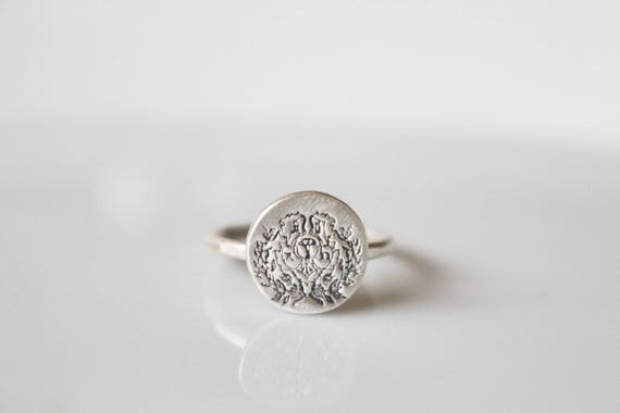 Chi Omega Crest Ring / Sorority Ring / Chi Omega Sorority / Chi O Ring /  Sterling Silver Ring