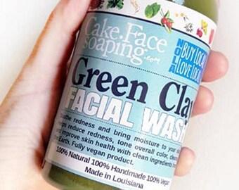 Natural face wash-natural facial wash-natural cleanser-natural clay facial-vegan soap-natural body wash-body wash-natural soap-clay facial