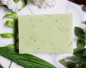 Eucalyptus and Tea tree natural vegan cold process soap with black tea