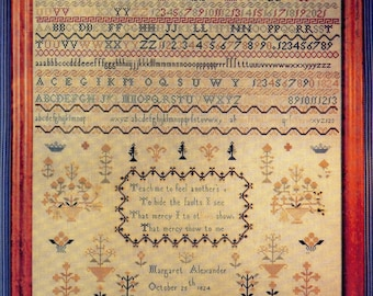 Margaret Alexander Reproduction Sampler ~ Cross Stitch Pattern