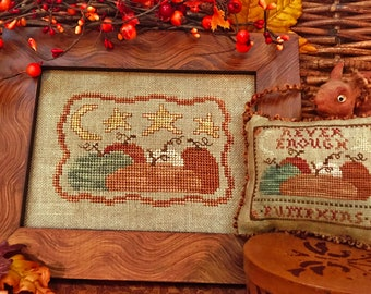 Never Enough Pumpkins ~ PDF/Download Cross stitch Pattern