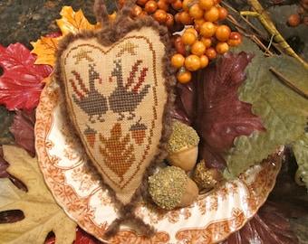 Turkey Love ~ PDF/Download ~ Cross Stitch Pattern