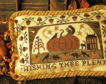 Wishing Thee Plenty ~ PDF/Download ~ Cross Stitch Pattern