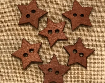 Wooden Stars  (6 to a package) Price Includes The shipping