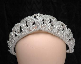 Vintage Hochzeit Krone Wachs Blumenkopfschmuck ein von einer Art Perlen Kopfschmuck Retro Braut Crown1940s Perle Tiara Hochzeit Haarschmuck