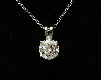 CZ Diamond Accent Necklace, Solitaire Necklace, Layered Necklace, Sterling Silver Delicate Necklace, Dainty Choker, Bridesmaids Gift