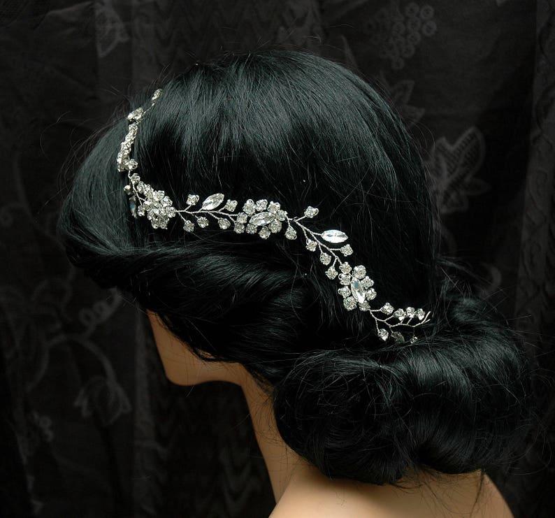 Wedding Hair Vine Headband Bridal Hair Piece Gold Wedding  2a54f65c731