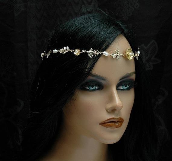 headband boho l or casque accessoires cheveux mariage. Black Bedroom Furniture Sets. Home Design Ideas