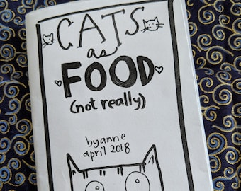 Cats as Food (not really) -- a minicomic about cats masquerading as food