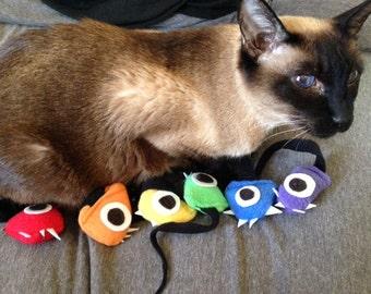 Rainbow Mini Monster Mice (Set of 6)  Catnip Cat Toys