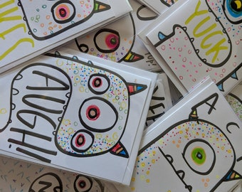 Surprise Monster Note Card