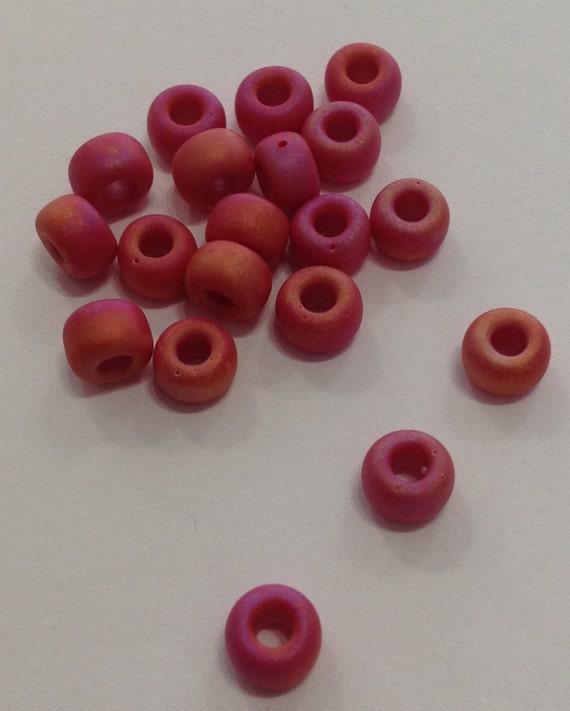 Miyuki size 5/0 Matte opaque red AB 20g