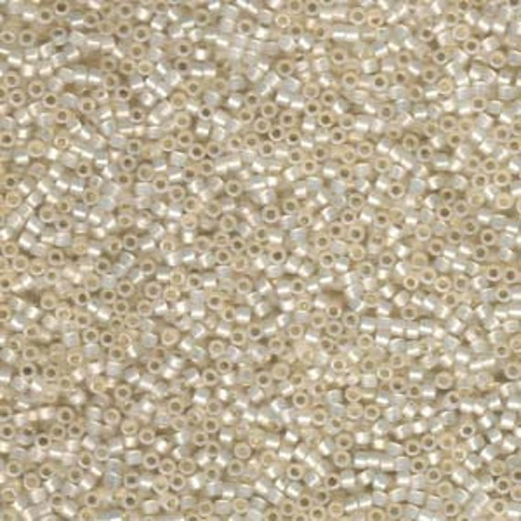 5g DB1451 Miyuki Delica Bead Silverlined Pale Cream Opal