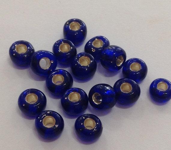 Miyuki size 5/0 silverlined cobalt 20g