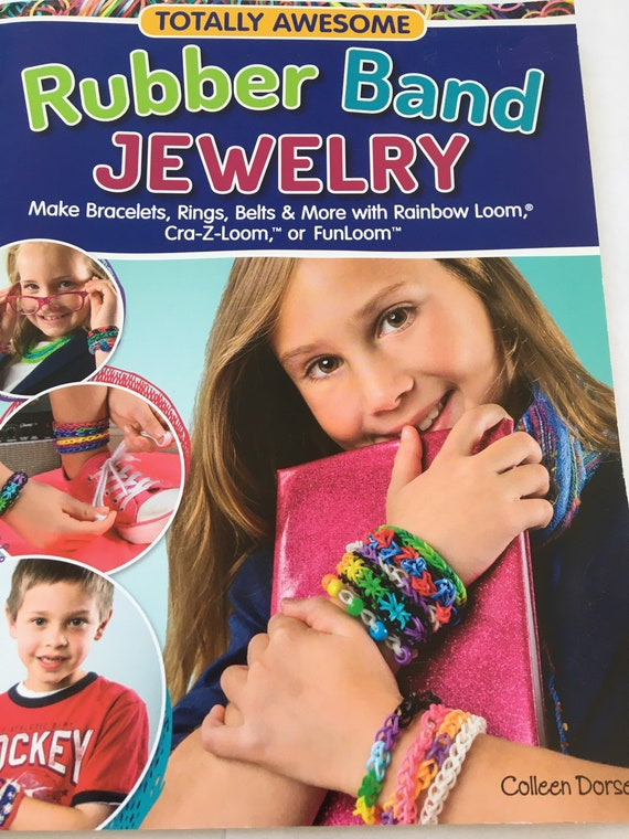 Book Rubber Band Jewellery, loom bands, project book