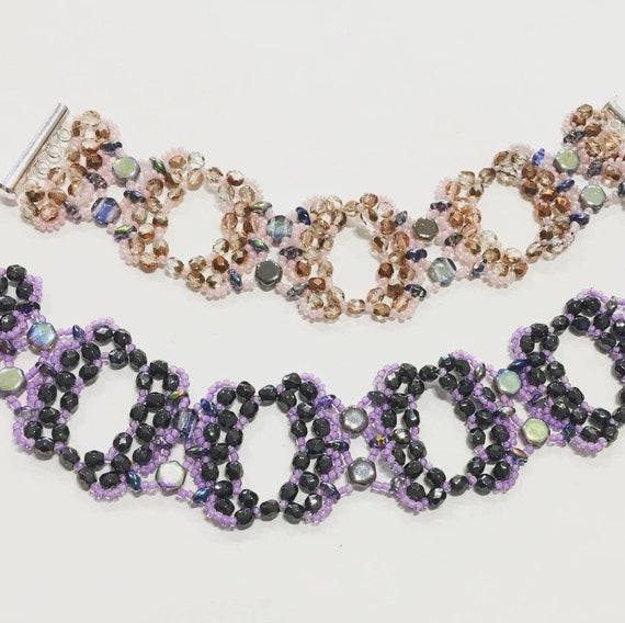 Bead kit, butterfly bracelet, bracelet kit, crystal bracelet kit