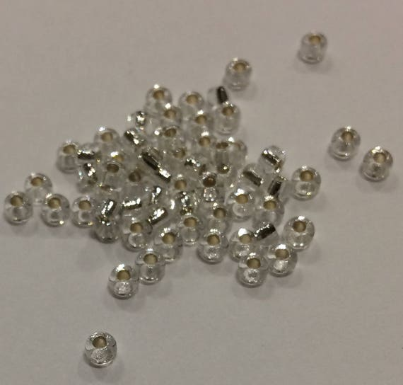 Size 8/0 Miyuki Seed Bead Silverlined Crystal 15g