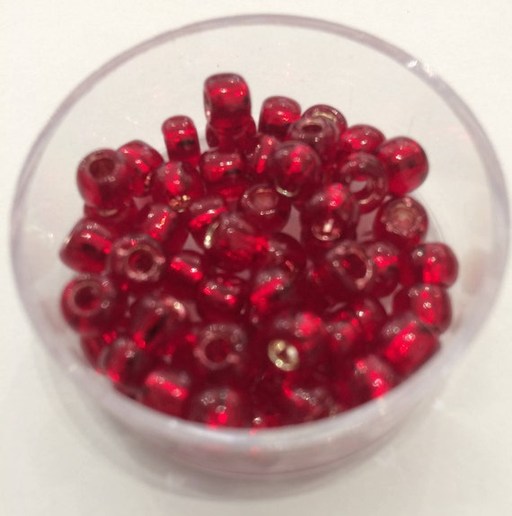 Toho Round Size 3/0 Silverlined Ruby 10g (TR-03-25C)