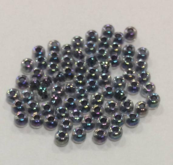 Size 8 Miyuki Seed Bead Noir Lined Crystal 15g