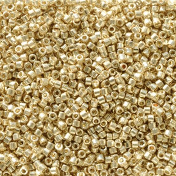 DB2501 Miyuki Delica Bead Duracoat Galvanised Pale Gold 5g