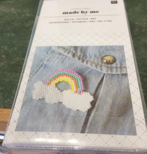 Brick Stitch Rainbow Brooch Kit