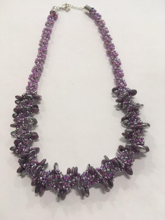 Necklace kit, jewellery making kit, bead kit, Beaded Spiral kit