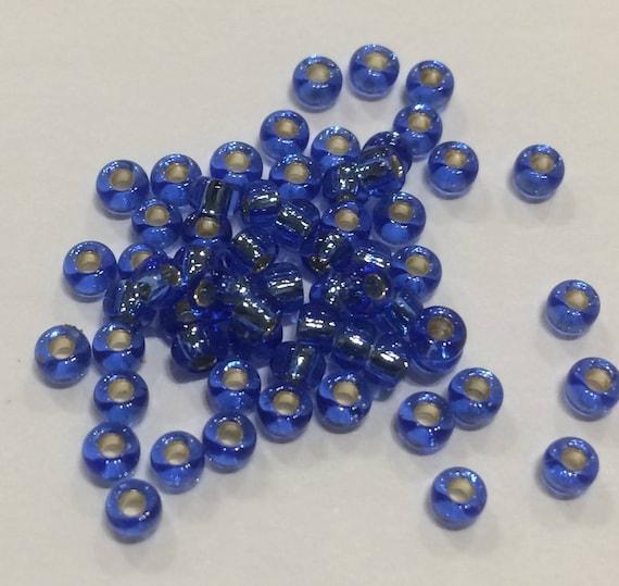 Size 8 Miyuki Seed Bead Silverlined Sapphire 15g