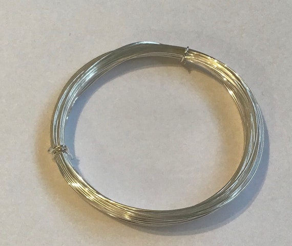 Silver plated wire, bead stringing material, available in 0.4mm, 0.6mm, 0.8 and 1mm, German manufactured wire