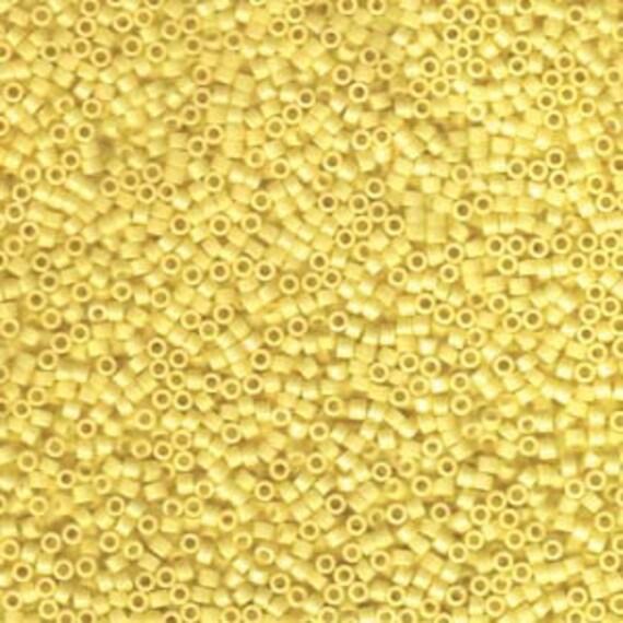 5g DB1132 Miyuki Delica Bead Opaque Canary Yellow