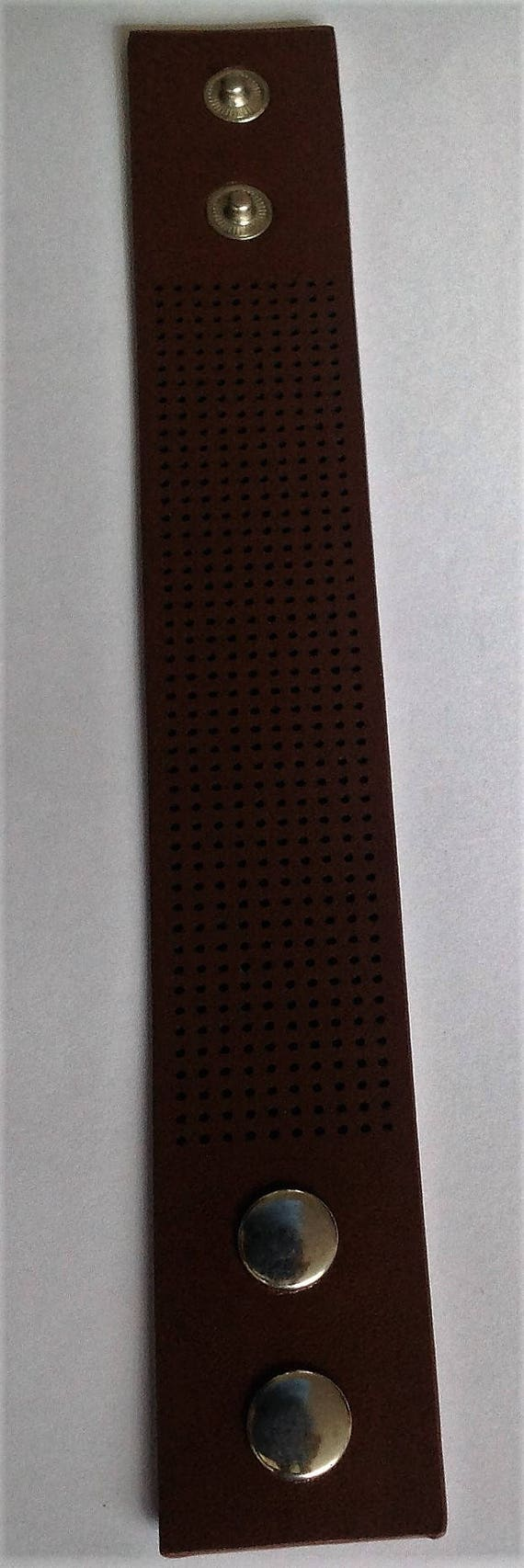 Bracelet Cuff in Brown for sewing using embroidery threads or beads
