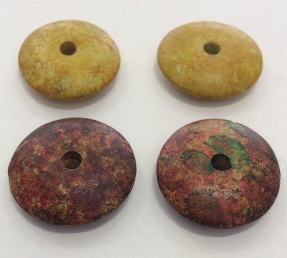 Mottled Donut Clay Bead 4 in a pack