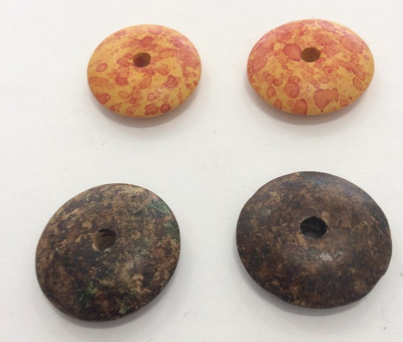 Mottled Clay Bead 4 in a pack