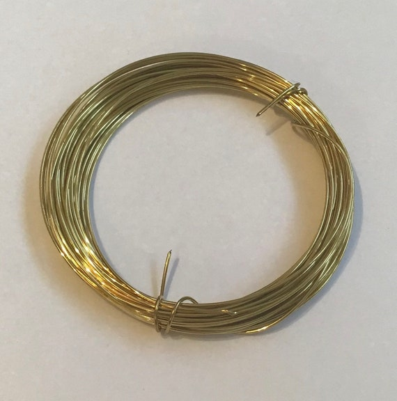 Brass wire, available in 0.4mm, 0.6mm, 0.8mm and 1.00mm, wire for jewellery making, gold colour, manufactured in Germany