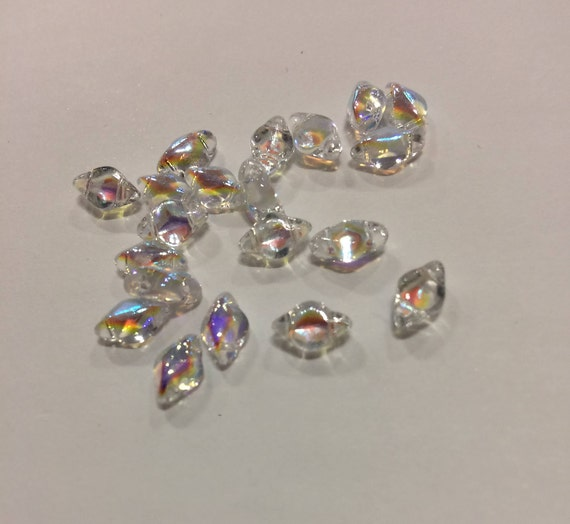 Crystal AB 8 x 5mm GemDuo bead Approx 8g