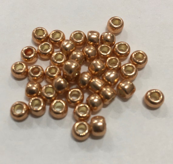 Size 6 Toho Seed Bead Galvanised Rose Gold 15g approximately 210 beads