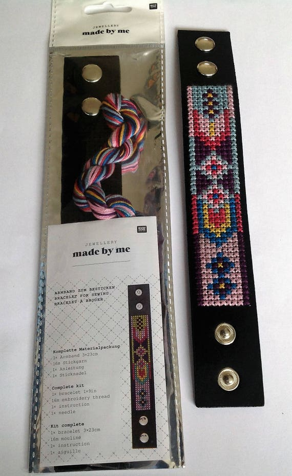 Cross stitch bracelet kit
